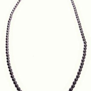 Girocollo Milla, ematite, acquamarina, argento 925