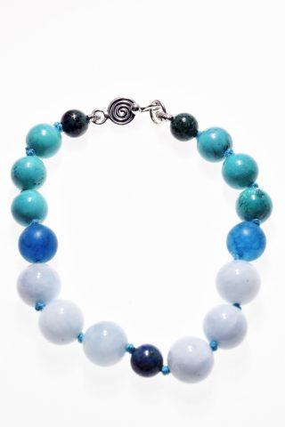 Bracciale pietre dure Iridis, blu, argento