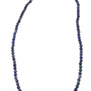 Girocollo lapislazzuli afgano 40 cm. chiusura argento unisex