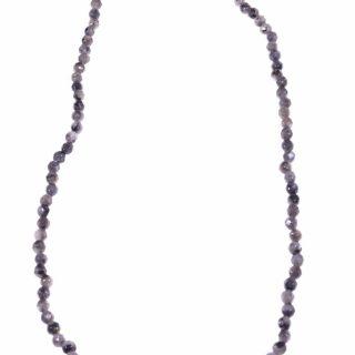 Girocollo di Labradorite sfere sfaccettate di 3 mm di diametro cm. 40 di lunghezzachiusura in argento 925, girocollo pietre dure uomo, donna