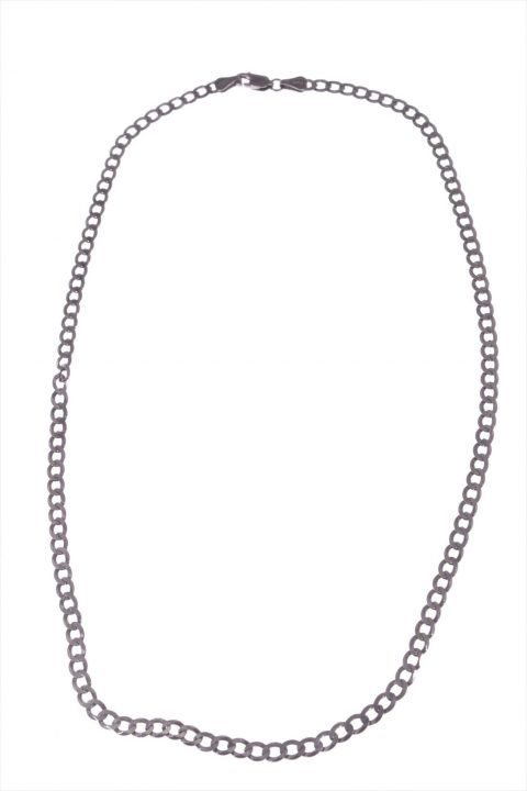 Catena uomo argento rutilato nero, 50 cm. Linea Argento collezione: Uomo Catena uomo tipo grumetta argento 925 rutilato nero, lunga 50 cm