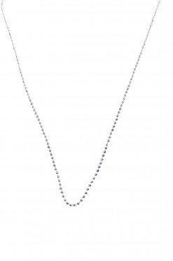 Catenina palline piccole argento, 80 cm.