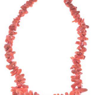 Collana corallo Mediterraneo cupolini rossi corallo portafortuna e protettivo.