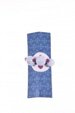 Anello pietre dure, acquamarina con elastico Linea P.blu Anello con elastico interno in pietre dure, acquamarina, agata bordeaux, ematite naturale.