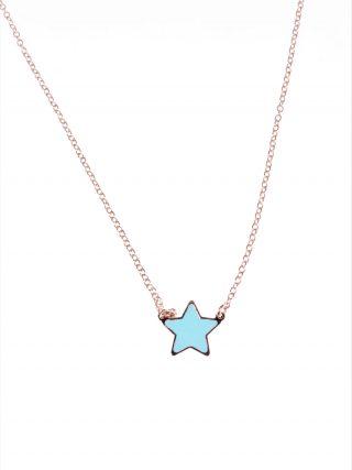 catenina argento rosa stella blu tiffany