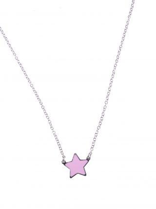 catenina argento con stella rosa