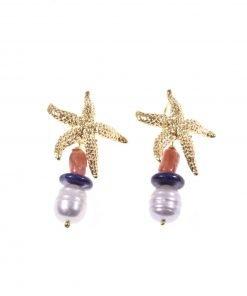 orecchini stella marina dorata
