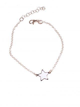 bracciale argeto rosa, stella bianca