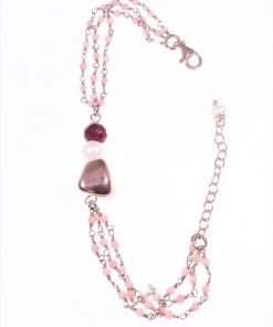 Bracciale rosario opale rosa,perla,giada