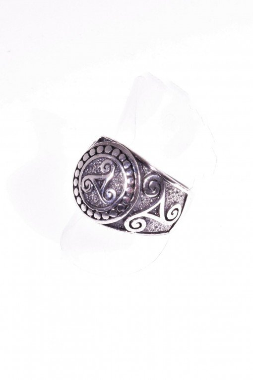 anello uomo triskelion, argento