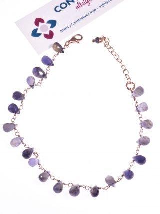 Bracciale gioiello iolite blu