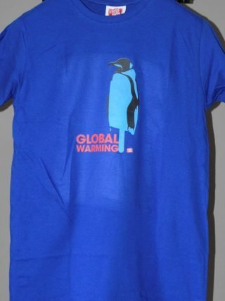T.shirt pinguino global warming