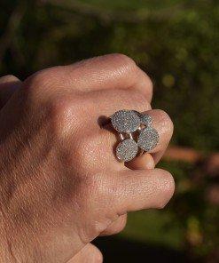 anello argento pavè zinconi bianco