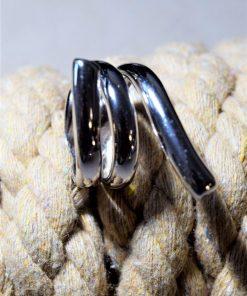 anello fascia a giro argento