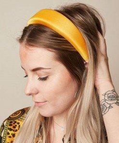 cerchietto imbottito per capelli giallo