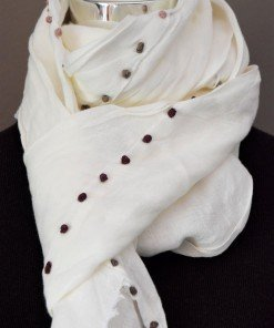 Sciarpa 100% lino bianco
