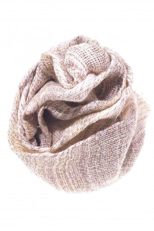 sciarpa cotone lino seta, naturale