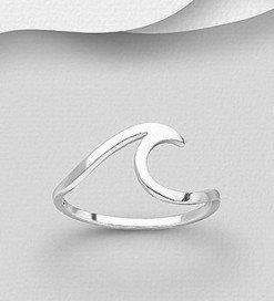 Anello argento onda minimal