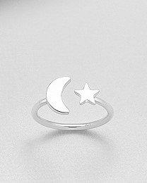 anello argento luna e stella contrarier