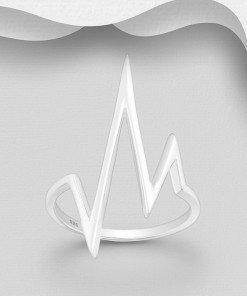 anello argento battito cuore