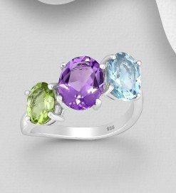 anello trilogy pietre colore