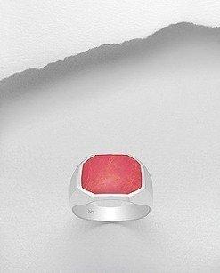 Anello chevalier rosso uomo