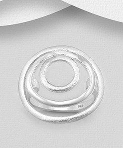 anello cerchi argento