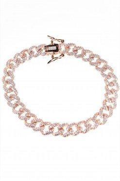 bracciale iced argento rosa