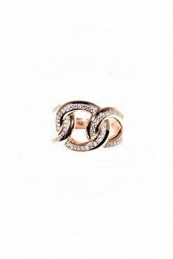 anello iced argento rosa