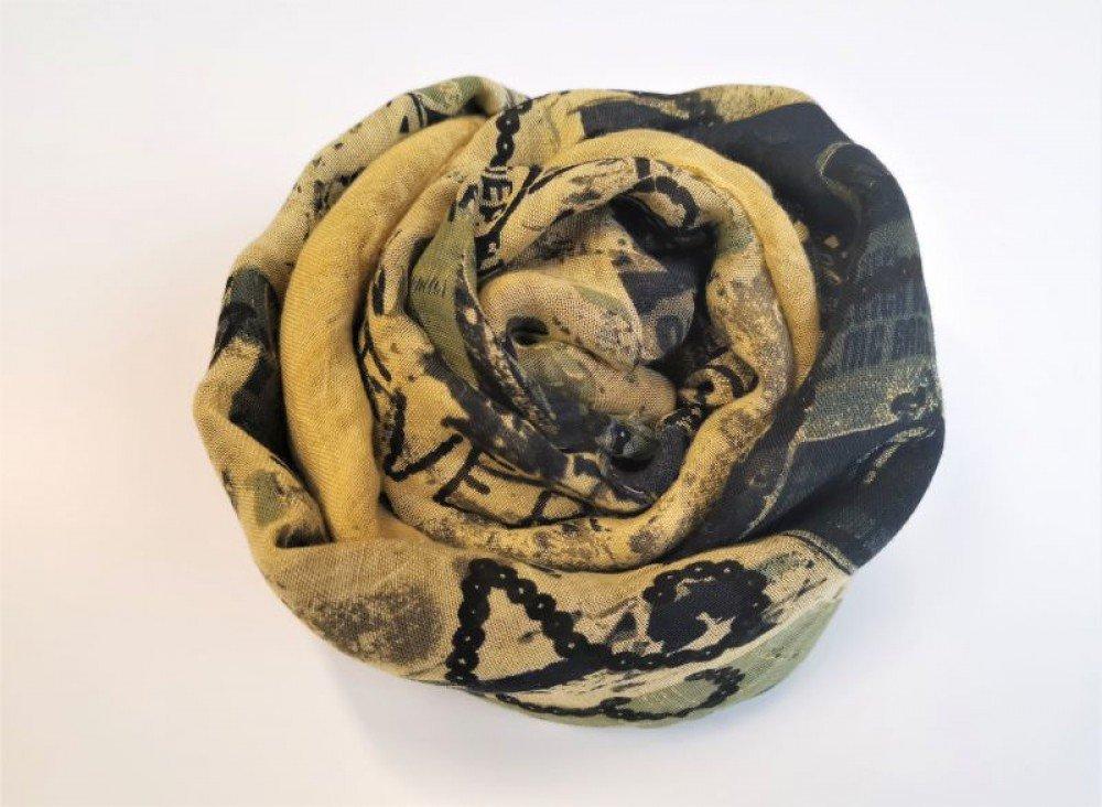 sciarpa foulard naturale anti allergica in bamboo