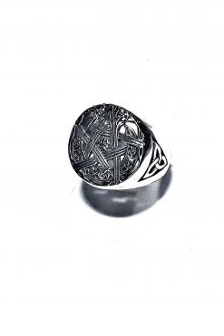 nello uomo Stella celtica argento