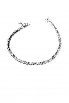 Bracciale tennis argento zirconi brillanti