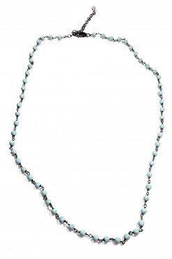 Girocollo rosario turchese argento nero