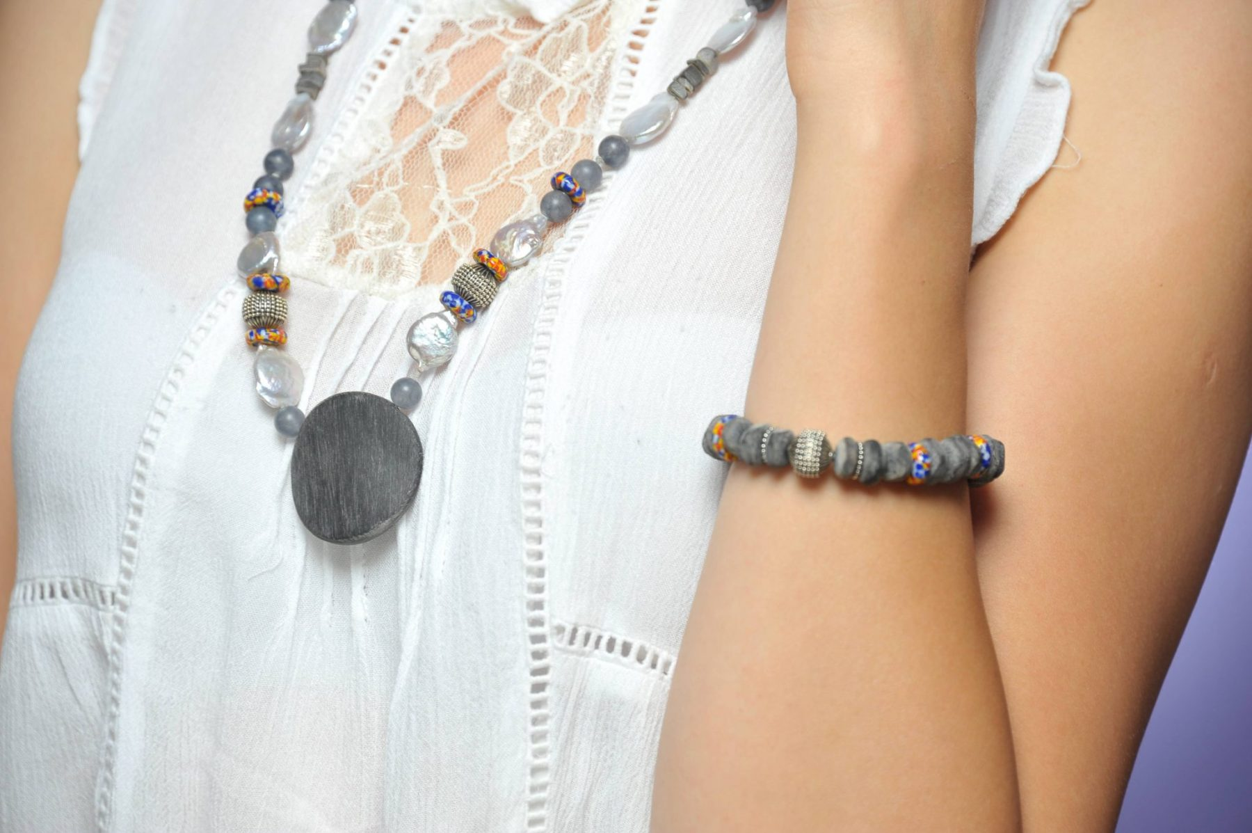 collana natural shooting con bracciale